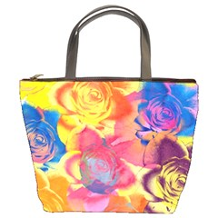 Pop Art Roses Bucket Bags