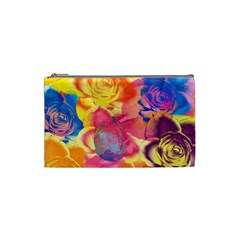 Pop Art Roses Cosmetic Bag (Small)