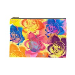 Pop Art Roses Cosmetic Bag (Large)