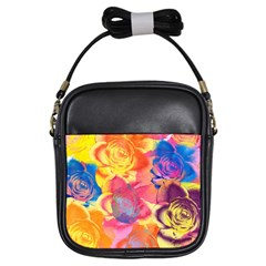 Pop Art Roses Girls Sling Bags