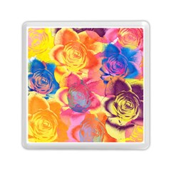 Pop Art Roses Memory Card Reader (square)