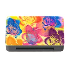 Pop Art Roses Memory Card Reader with CF