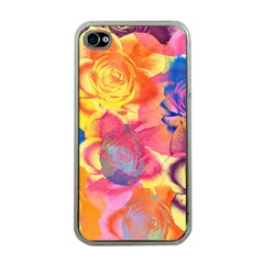 Pop Art Roses Apple iPhone 4 Case (Clear)