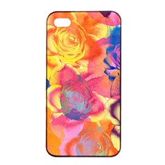 Pop Art Roses Apple iPhone 4/4s Seamless Case (Black)