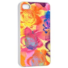 Pop Art Roses Apple iPhone 4/4s Seamless Case (White)