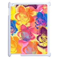 Pop Art Roses Apple iPad 2 Case (White)