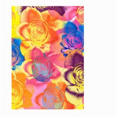 Pop Art Roses Large Garden Flag (Two Sides)