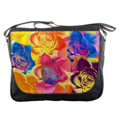 Pop Art Roses Messenger Bags