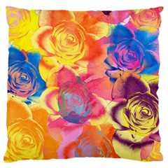 Pop Art Roses Large Cushion Case (One Side)