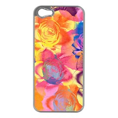 Pop Art Roses Apple Iphone 5 Case (silver) by DanaeStudio