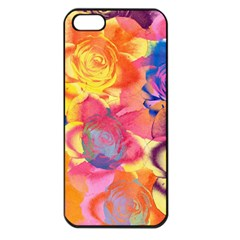 Pop Art Roses Apple Iphone 5 Seamless Case (black) by DanaeStudio