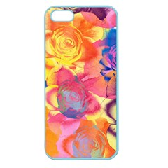 Pop Art Roses Apple Seamless Iphone 5 Case (color) by DanaeStudio