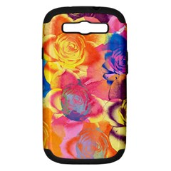 Pop Art Roses Samsung Galaxy S III Hardshell Case (PC+Silicone)