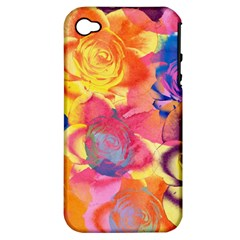 Pop Art Roses Apple iPhone 4/4S Hardshell Case (PC+Silicone)