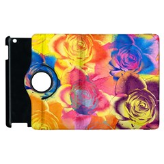 Pop Art Roses Apple iPad 3/4 Flip 360 Case