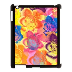 Pop Art Roses Apple iPad 3/4 Case (Black)