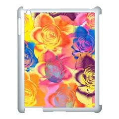 Pop Art Roses Apple iPad 3/4 Case (White)