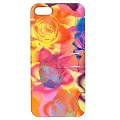 Pop Art Roses Apple Iphone 5 Hardshell Case With Stand by DanaeStudio