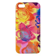 Pop Art Roses Apple Iphone 5 Premium Hardshell Case by DanaeStudio