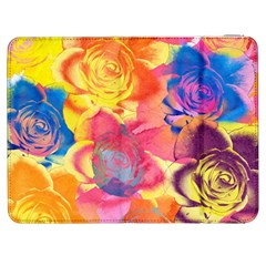 Pop Art Roses Samsung Galaxy Tab 7  P1000 Flip Case