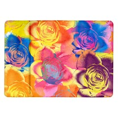 Pop Art Roses Samsung Galaxy Tab 10 1  P7500 Flip Case by DanaeStudio