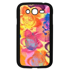 Pop Art Roses Samsung Galaxy Grand Duos I9082 Case (black) by DanaeStudio