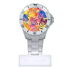 Pop Art Roses Plastic Nurses Watch