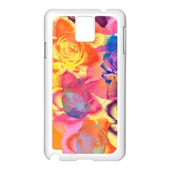 Pop Art Roses Samsung Galaxy Note 3 N9005 Case (white) by DanaeStudio