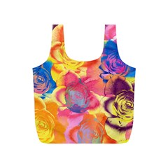 Pop Art Roses Full Print Recycle Bags (S)