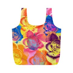 Pop Art Roses Full Print Recycle Bags (M)