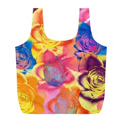Pop Art Roses Full Print Recycle Bags (L)