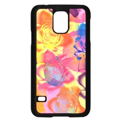 Pop Art Roses Samsung Galaxy S5 Case (Black)