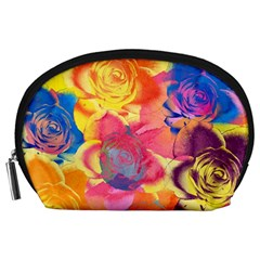 Pop Art Roses Accessory Pouches (Large)