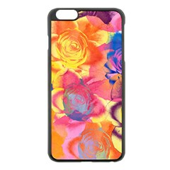 Pop Art Roses Apple iPhone 6 Plus/6S Plus Black Enamel Case