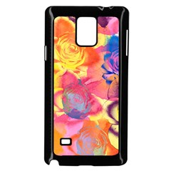 Pop Art Roses Samsung Galaxy Note 4 Case (Black)