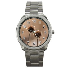 2  Verwelkte Kugeldistel Sport Metal Watch by wsfcow