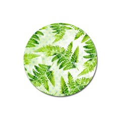 Fern Leaves Magnet 3  (round) by DanaeStudio
