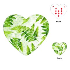 Fern Leaves Playing Cards (heart)  by DanaeStudio