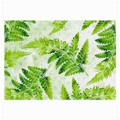 Fern Leaves Large Glasses Cloth (2 Side) by DanaeStudio