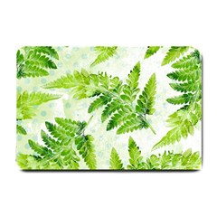 Fern Leaves Small Doormat  by DanaeStudio