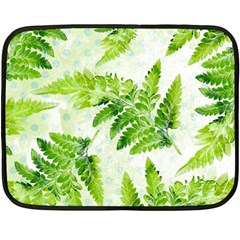 Fern Leaves Double Sided Fleece Blanket (mini)  by DanaeStudio