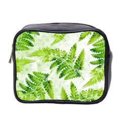 Fern Leaves Mini Toiletries Bag 2 Side