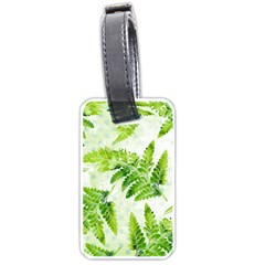 Fern Leaves Luggage Tags (two Sides)