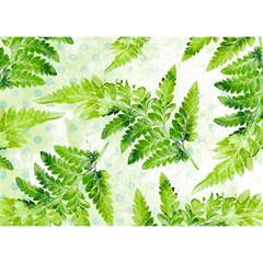 Fern Leaves Birthday Cake 3d Greeting Card (7x5)