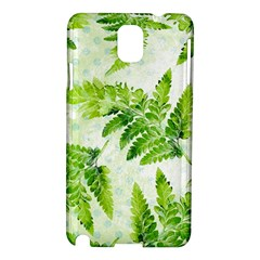 Fern Leaves Samsung Galaxy Note 3 N9005 Hardshell Case by DanaeStudio