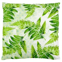Fern Leaves Large Flano Cushion Case (two Sides) by DanaeStudio