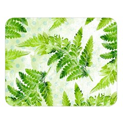 Fern Leaves Double Sided Flano Blanket (large)