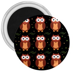 Halloween brown owls  3  Magnets
