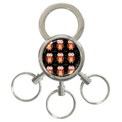Halloween brown owls  3-Ring Key Chains