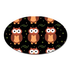Halloween brown owls  Oval Magnet
